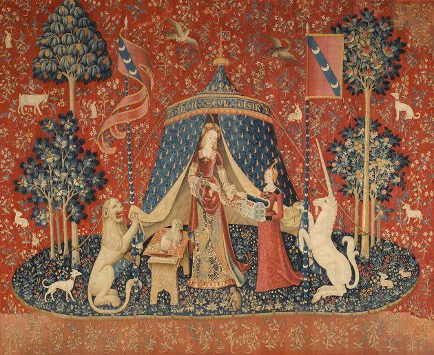 La Dame à la licorne, arazzo fiammingo del XV secolo