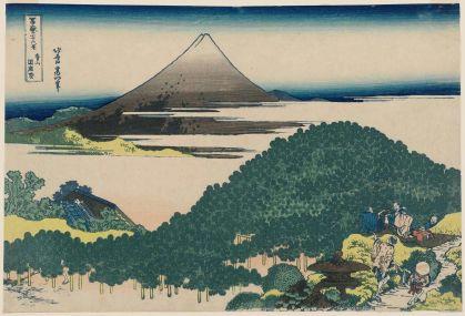 Katsushika Hokusai The Cushion Pine at Aoyama